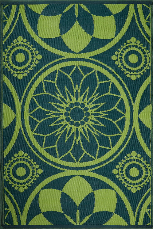 Persian Flower Mehdi+ Blue Area Rug