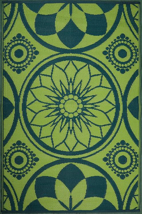 Persian Flower Mehdi+ Green Area Rug