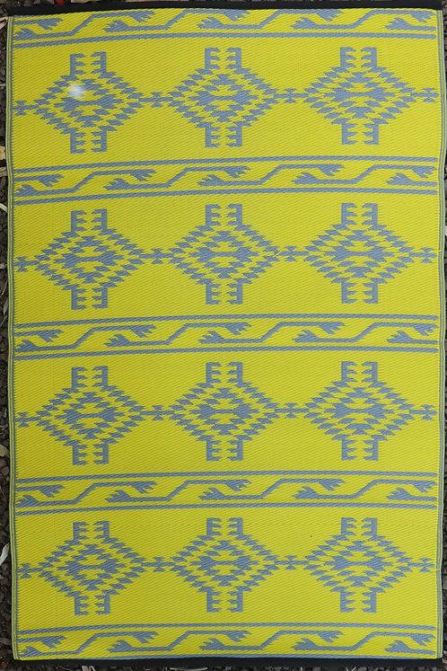Turkish Gray & Yellow Area Rug