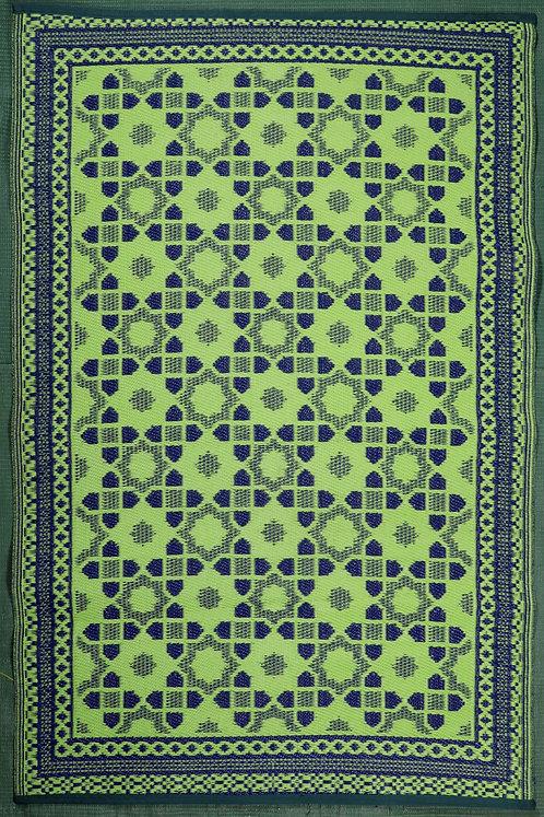 Tiles Yellow & Blue  Area Rug