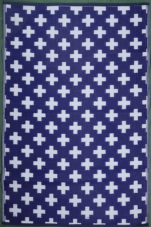 Plus Blue White Area Rug