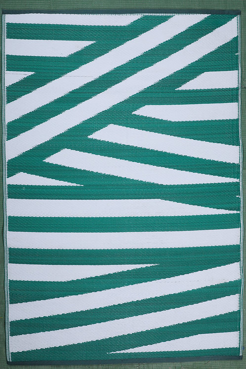 Bandages Bottle Green+White  Area Rug