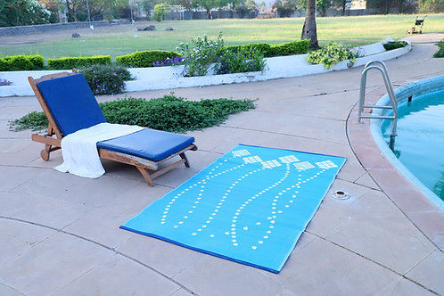 Kites Sky Blue  White Area Rug
