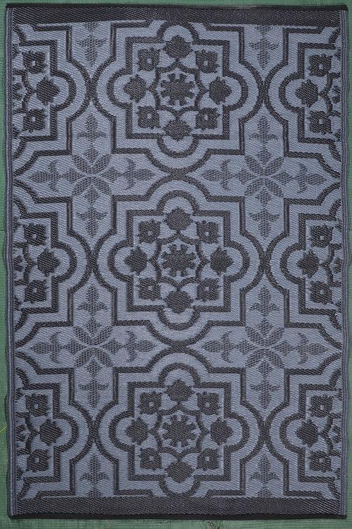Rangoli  Gray& White Area Rug