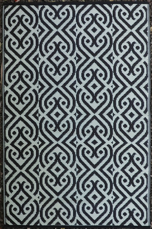 Diamond Design Black &White Mat