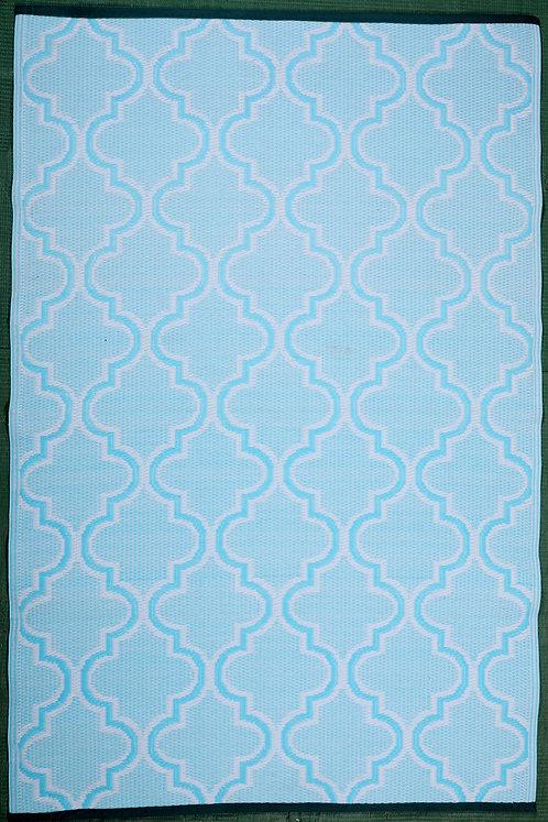 Arabian Tomb Sky Blue & White  Area Rug