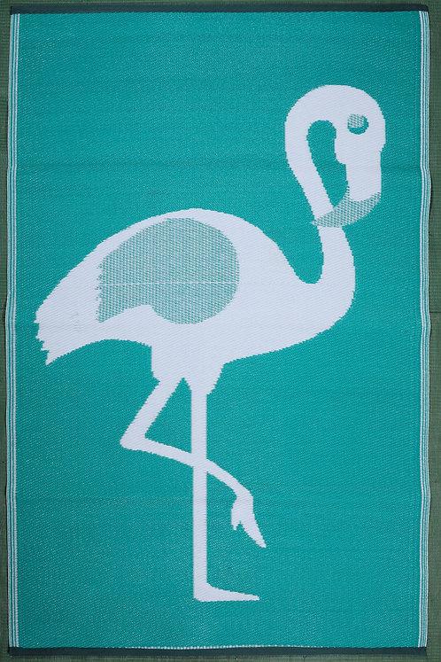 Ostrich Light Green IJ +White  Area Rug