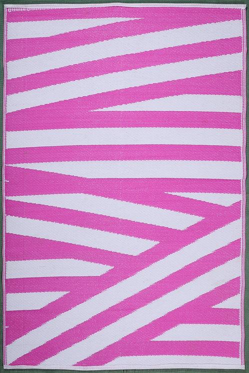 Bandages Pink & White  Area Rug
