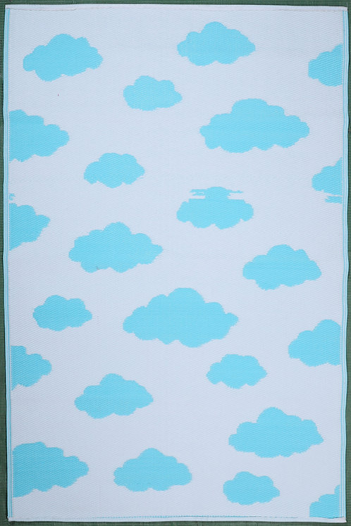 Clouds Sky Blue White Area Rug
