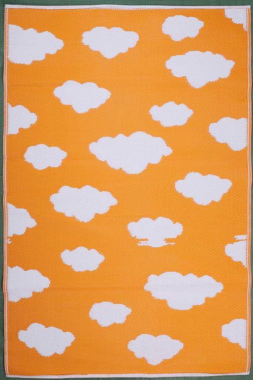 Clouds light Orange+White  Area Rug