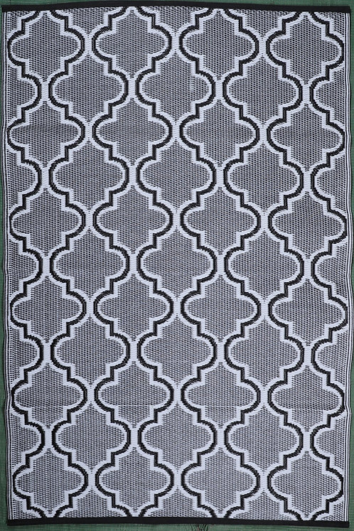 Arabian Tomb Black+White Area Rug