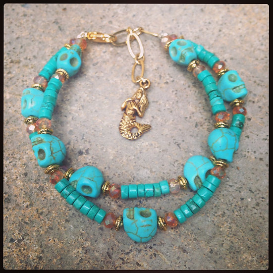 Double Turquoise Mermaid Bracelet