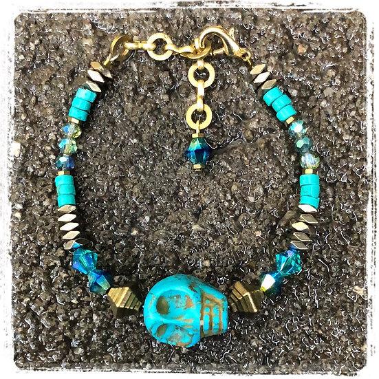 Turquoise Skull Pirate Bracelet