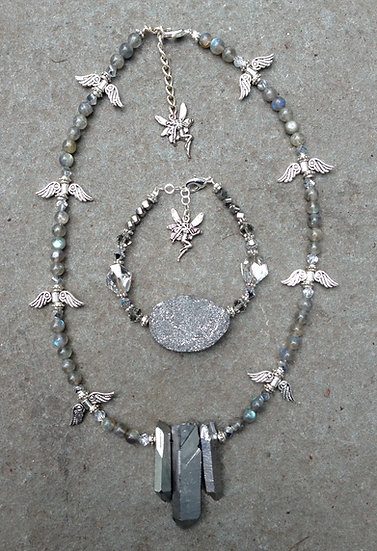 Silver Fairy Bling Necklace