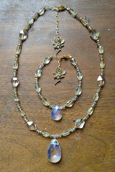 Golden Citrine Fairy Bling Bracelet