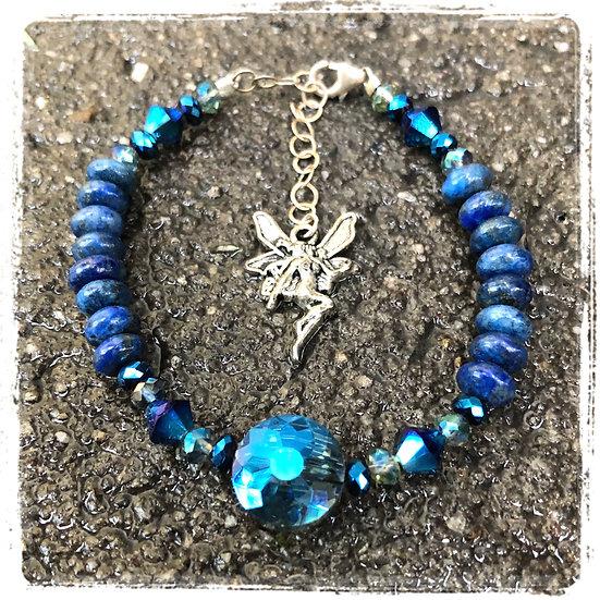 Lapis Lazuli Fairy Bling Bracelet