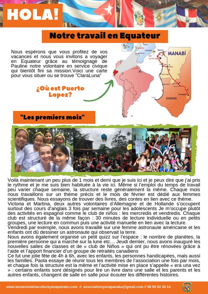 service civique en equateur