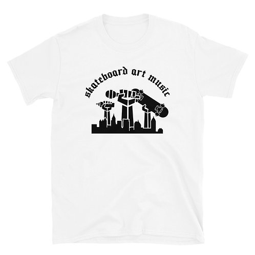 Skateboard Art & Music WHT T-Shirt