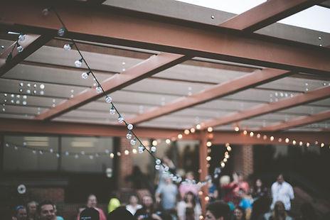 Lumières de cordes en plein air