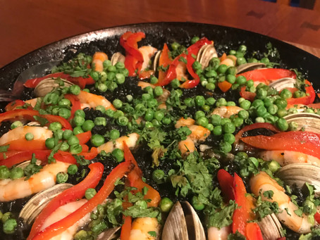 Today's dinner paella  negre