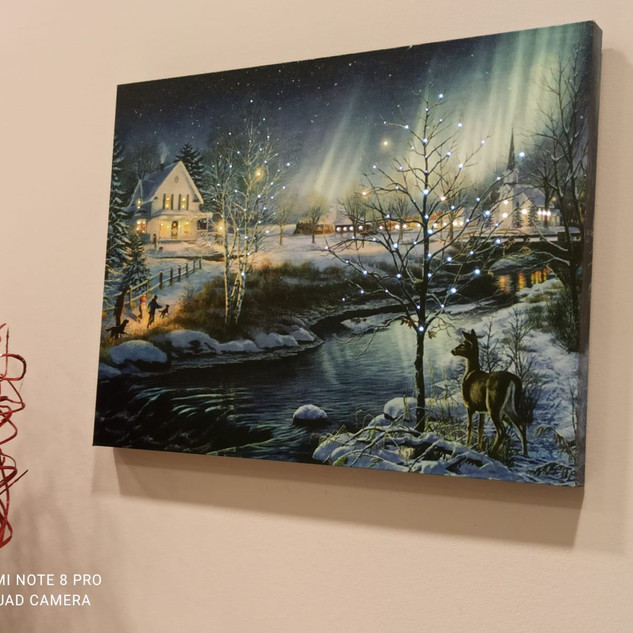 Quadro natalizio con Luci Led in movimento