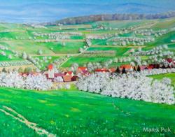 Blick ins Eggener Tal Kirschblüte