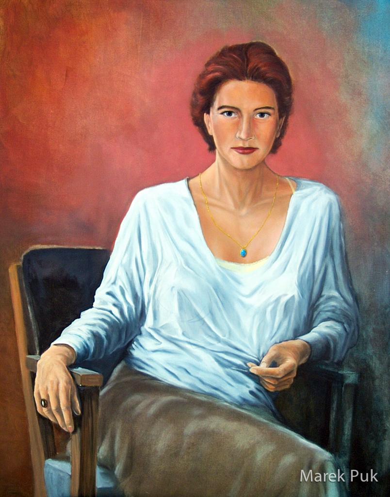Bildnis, Frau in heller Bluse