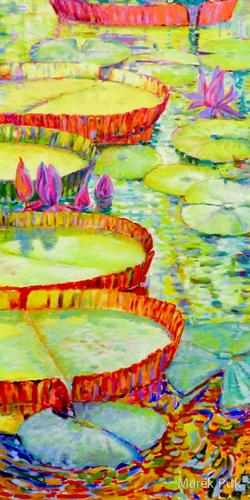 Teich mit Rafflesia