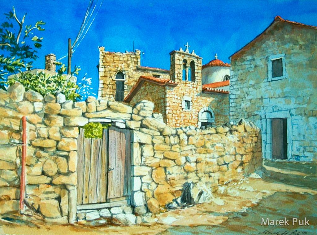 Holztür in Paphos/Griechenland