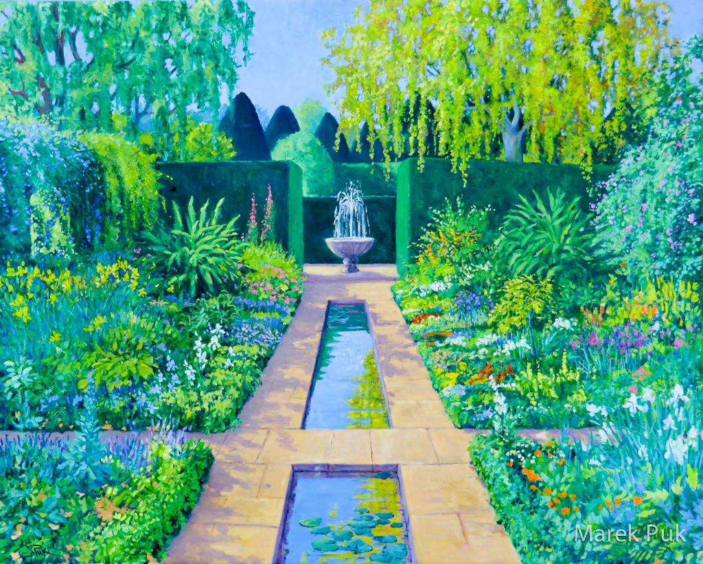 Südlicher Garten mit Wasserachse