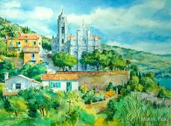 Dorfkirche an der Westküste Korsikas