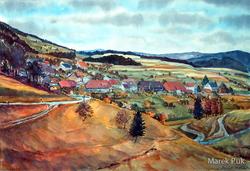 Adelsberg Ortsansicht