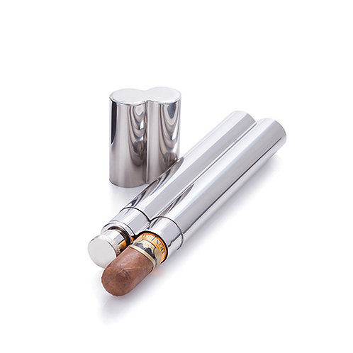 Stainless Steel Cigar Holder and Flask by Viski®