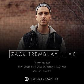 Nick Fradiani - Zack Tremblay Live