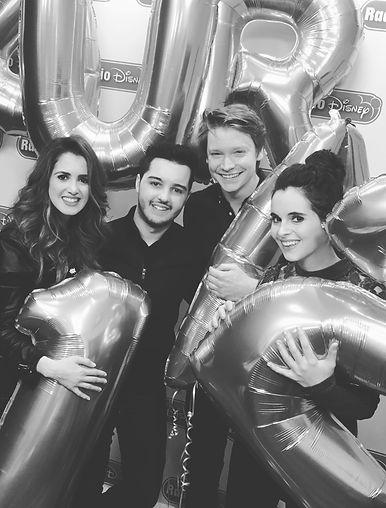 Laura, Zack, Calum and Vanessa at Radio