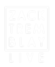 Zack Tremblay Live Logo_White Text Squar