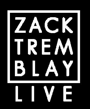 Zack Tremblay Live Logo_White Text Squar