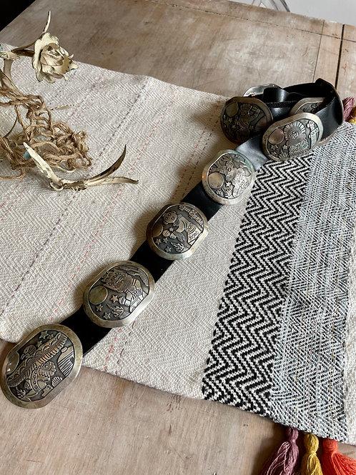 Hopi Kachina Concho Belt