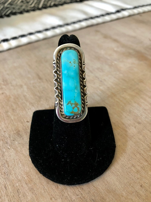 Turquoise Mountain Long Ring