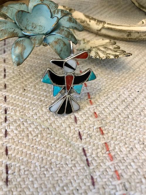 Petite Zuni Thunderbird Pendant