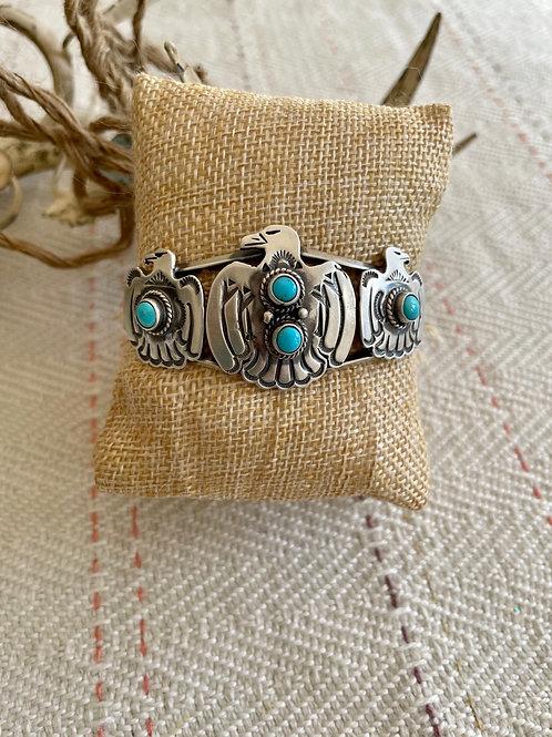 Split Shank Thunderbird Cuff Bracelet