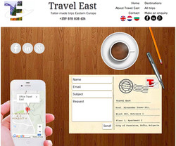 Travel East contact page