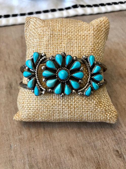 Sleeping Beauty Cluster Bracelet