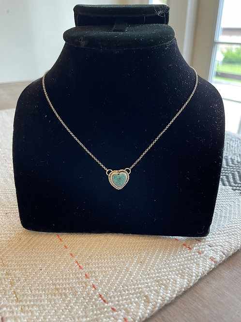 Dainty Turquoise Heart Necklace