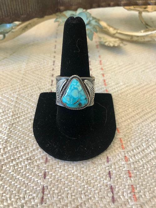 Men's Cigar Band Turquoise Ring