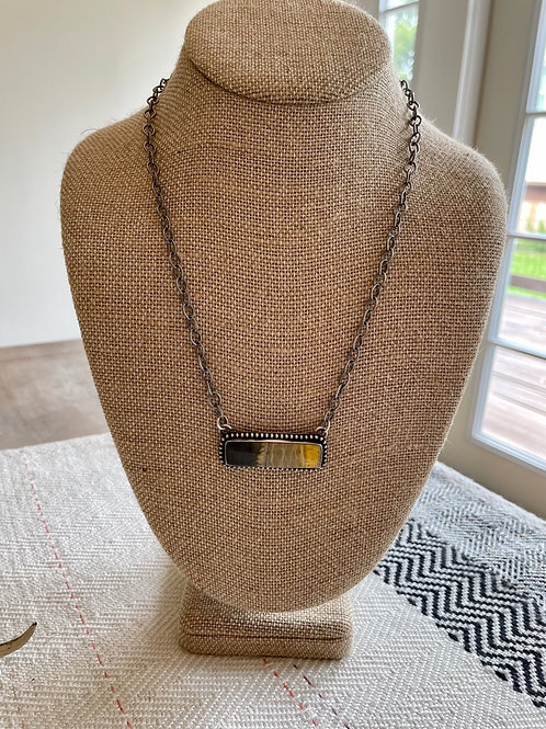 Bumble Bee Bar Necklace
