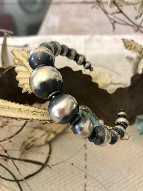 Adjustable Navajo Pearl Cuff Bracelet