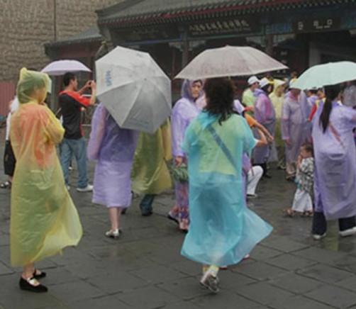 Disposable raincoats
