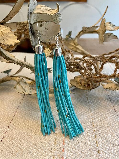 """5"""" Ramona Bird Tassel Earrings"""