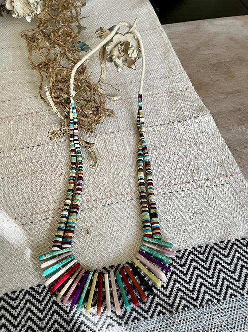 Santo Domingo Multi-Colored Slab Necklace